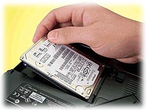 Výměna pevného disku notebook HP
